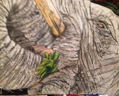 Elephant Artwork by Amareza Buys