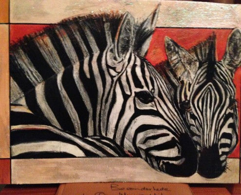 Zebra Painting by Amareza Buys